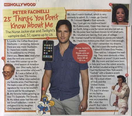 25 Things with Peter Facinelli